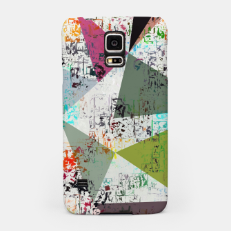 Miniaturka psychedelic geometric triangle pattern abstract with painting abstract background Samsung Case, Live Heroes