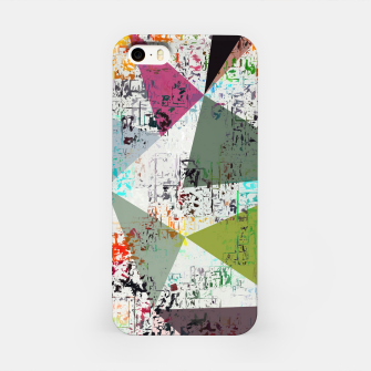 Miniaturka psychedelic geometric triangle pattern abstract with painting abstract background iPhone Case, Live Heroes