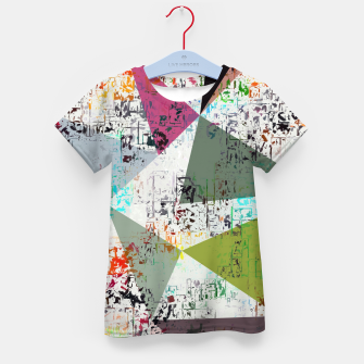 Miniaturka psychedelic geometric triangle pattern abstract with painting abstract background Kid's t-shirt, Live Heroes