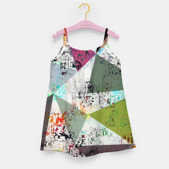Miniaturka psychedelic geometric triangle pattern abstract with painting abstract background Girl's dress, Live Heroes