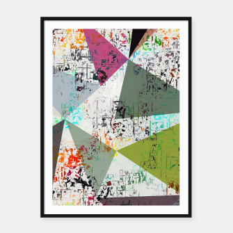 Miniaturka psychedelic geometric triangle pattern abstract with painting abstract background Framed poster, Live Heroes