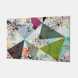Miniaturka psychedelic geometric triangle pattern abstract with painting abstract background Canvas, Live Heroes