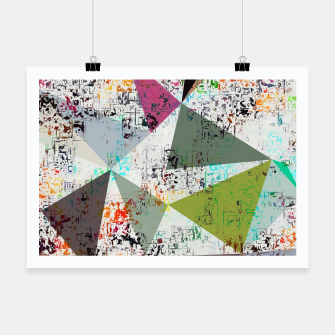 Miniaturka psychedelic geometric triangle pattern abstract with painting abstract background Poster, Live Heroes