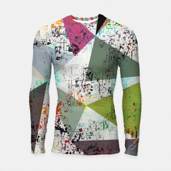 Miniaturka psychedelic geometric triangle pattern abstract with painting abstract background Longsleeve rashguard , Live Heroes