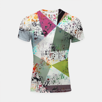 Miniaturka psychedelic geometric triangle pattern abstract with painting abstract background Shortsleeve rashguard, Live Heroes