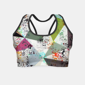 Miniaturka psychedelic geometric triangle pattern abstract with painting abstract background Crop Top, Live Heroes