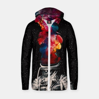 Thumbnail image of Smoker Cotton zip up hoodie, Live Heroes