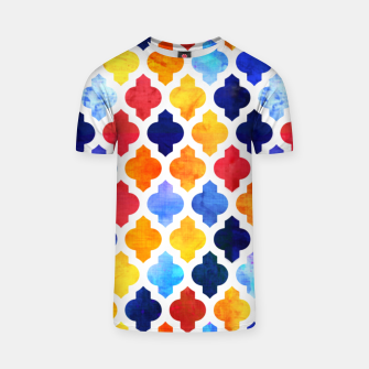 Thumbnail image of Marrakesh Moroccan red and blue T-shirt, Live Heroes
