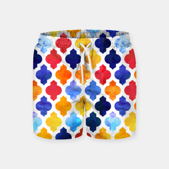 Imagen en miniatura de Marrakesh Moroccan red and blue Swim Shorts, Live Heroes