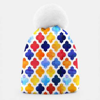 Imagen en miniatura de Marrakesh Moroccan red and blue Beanie, Live Heroes
