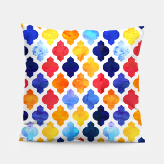 Imagen en miniatura de Marrakesh Moroccan red and blue Pillow, Live Heroes