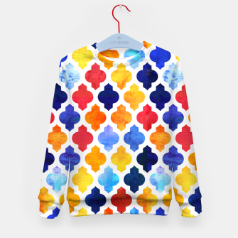 Imagen en miniatura de Marrakesh Moroccan red and blue Kid's sweater, Live Heroes