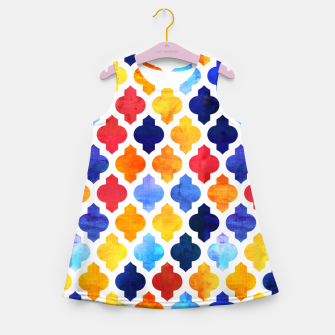 Imagen en miniatura de Marrakesh Moroccan red and blue Girl's summer dress, Live Heroes