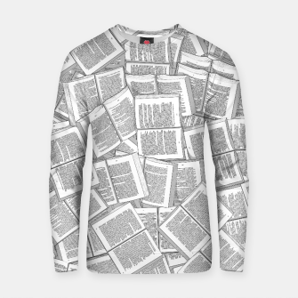 Thumbnail image of Literary Overload Cotton sweater, Live Heroes
