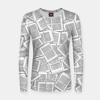 Thumbnail image of Literary Overload Woman cotton sweater, Live Heroes