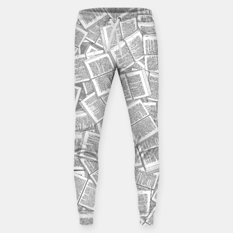 Thumbnail image of Literary Overload Cotton sweatpants, Live Heroes