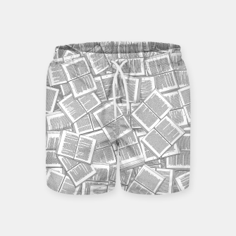 Thumbnail image of Literary Overload Swim Shorts, Live Heroes