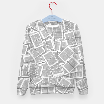 Thumbnail image of Literary Overload Kid's sweater, Live Heroes