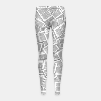 Thumbnail image of Literary Overload Girl's leggings, Live Heroes