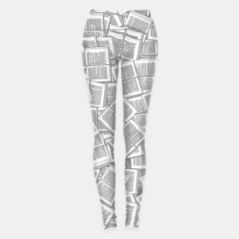 Thumbnail image of Literary Overload Leggings, Live Heroes