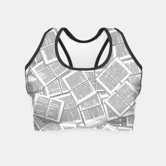 Thumbnail image of Literary Overload Crop Top, Live Heroes
