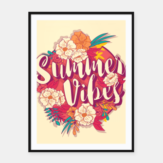 Thumbnail image of Summer vibes 001 Framed poster, Live Heroes