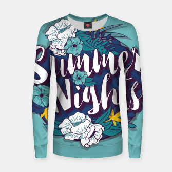 Thumbnail image of Summer Nights 001 Woman cotton sweater, Live Heroes