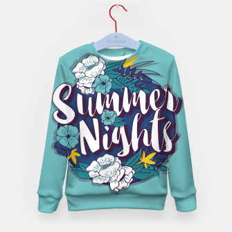 Miniatur Summer Nights 001 Kid's sweater, Live Heroes