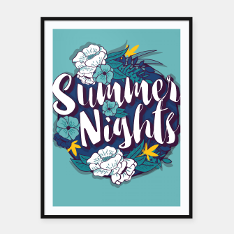 Miniatur Summer Nights 001 Framed poster, Live Heroes