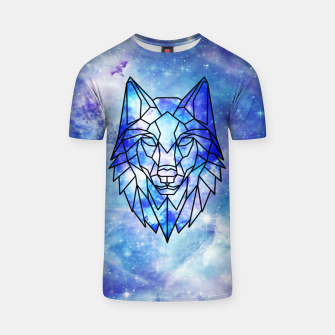 Thumbnail image of Geometric galaxy wolf T-shirt, Live Heroes