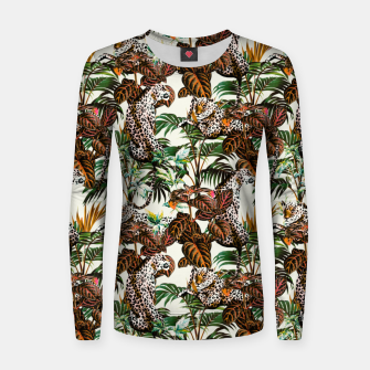 01-Leopards in the wild jungle Sudadera de algodón para mujer thumbnail image