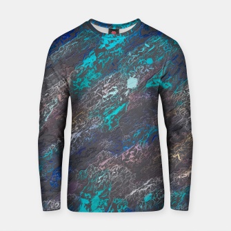 Miniaturka psychedelic splash painting texture abstract background in blue and black Cotton sweater, Live Heroes
