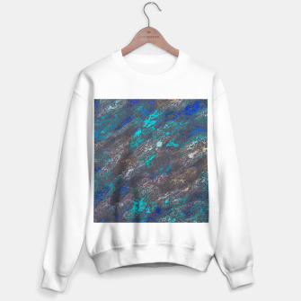 Miniaturka psychedelic splash painting texture abstract background in blue and black Sweater regular, Live Heroes