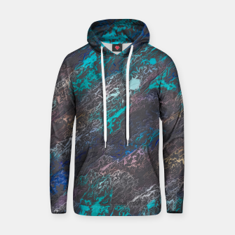 Miniaturka psychedelic splash painting texture abstract background in blue and black Cotton hoodie, Live Heroes