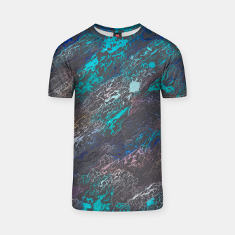 Miniaturka psychedelic splash painting texture abstract background in blue and black T-shirt, Live Heroes