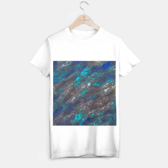 Miniaturka psychedelic splash painting texture abstract background in blue and black T-shirt regular, Live Heroes