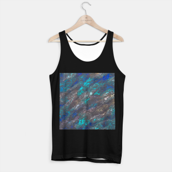 Miniaturka psychedelic splash painting texture abstract background in blue and black Tank Top regular, Live Heroes