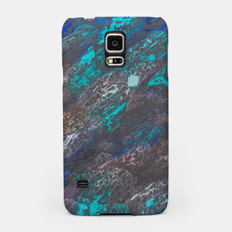 Miniaturka psychedelic splash painting texture abstract background in blue and black Samsung Case, Live Heroes