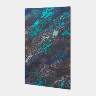 Miniaturka psychedelic splash painting texture abstract background in blue and black Canvas, Live Heroes