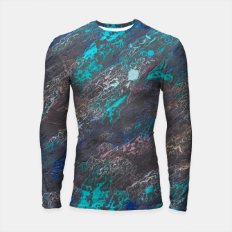 Miniaturka psychedelic splash painting texture abstract background in blue and black Longsleeve rashguard , Live Heroes