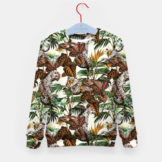 01-Leopards in the wild jungle Sudadera para niños thumbnail image