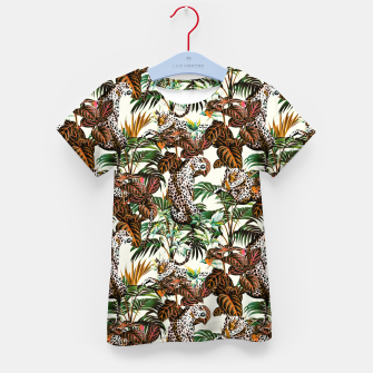 01-Leopards in the wild jungle Camiseta para niños thumbnail image