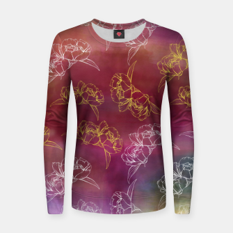 Imagen en miniatura de Water Flowers Woman cotton sweater, Live Heroes