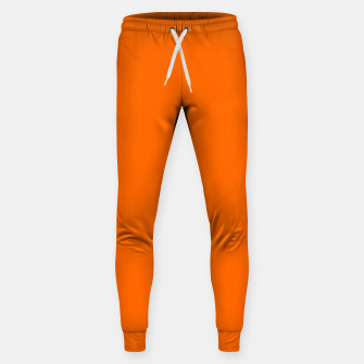 Blaze Orange Color Cotton sweatpants thumbnail image