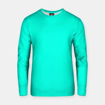 Thumbnail image of Bright Turquoise Color Cotton sweater, Live Heroes