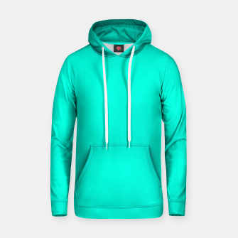 Thumbnail image of Bright Turquoise Color Cotton hoodie, Live Heroes