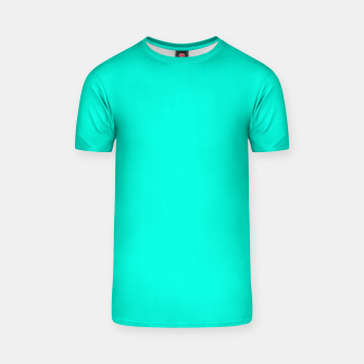 Thumbnail image of Bright Turquoise Color T-shirt, Live Heroes