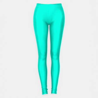 Thumbnail image of Bright Turquoise Color Leggings, Live Heroes