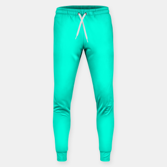 Thumbnail image of Bright Turquoise Color Cotton sweatpants, Live Heroes