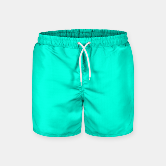 Thumbnail image of Bright Turquoise Color Swim Shorts, Live Heroes